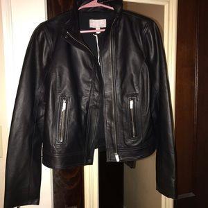 NWT Chelsea28 Leather Moto Jacket